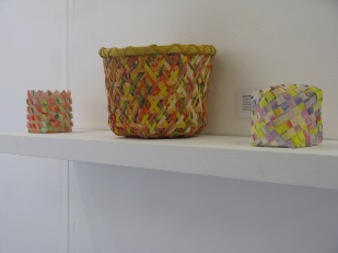 baskets, plaited and interwoven