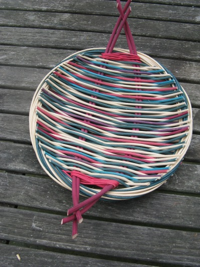 dyed cane platter