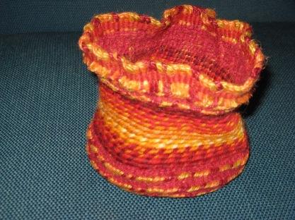 twined wool basket